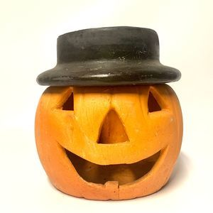 Vintage Halloween Jack O Lantern Candle Holder